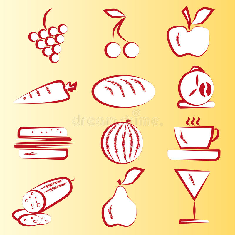 Free Red Food Icons Part 1 Stock Image - 15721791