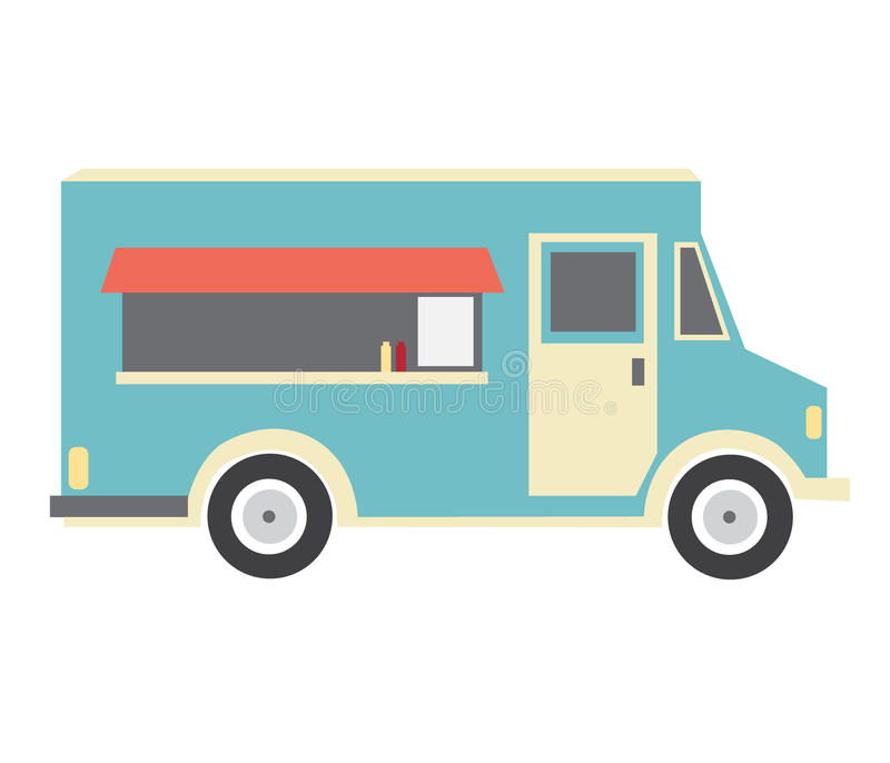 Download Blue Food Truck Stock Illustration Of Cuisine