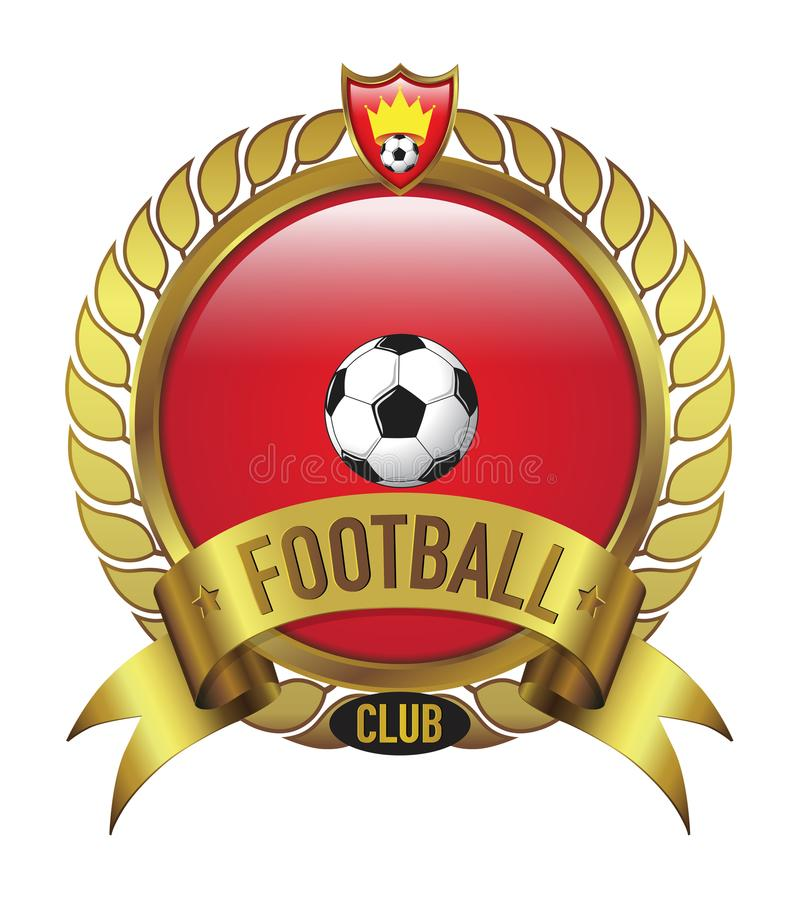 Red Football Club logo bevel with leaf royalty free stock image