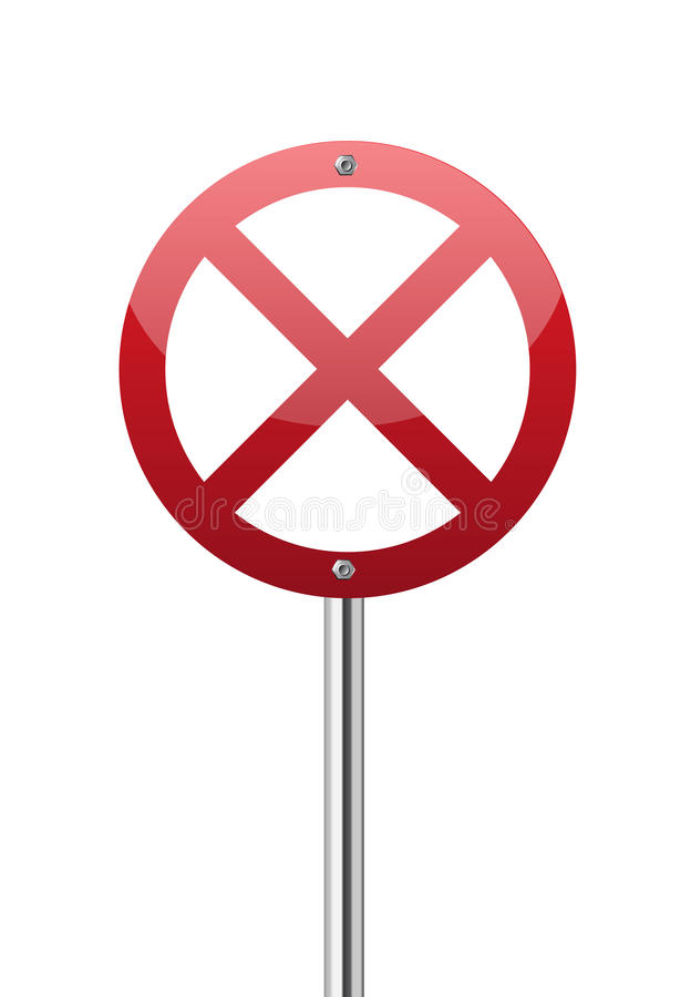 Download Red forbidden traffic sign stock vector. Illustration of line - 26887812