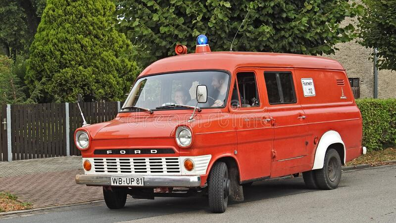 Red Ford Van royalty free stock images