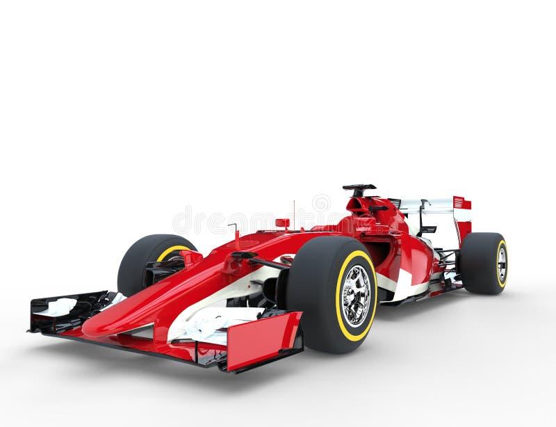 Red Formula One Car - Studio Shot. Isolated on white background stock photography