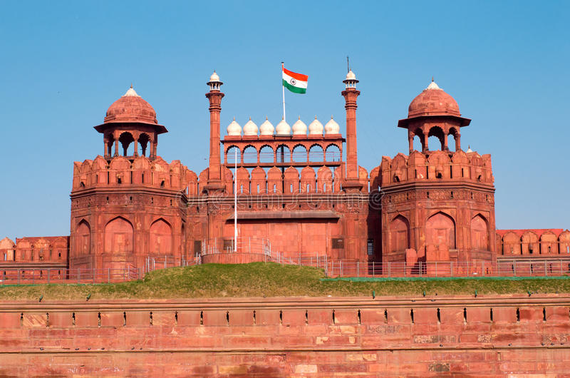 Red Fort in Delhi royalty free stock photos