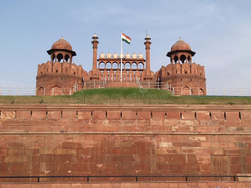 Red Fort in Delhi in India royalty free stock photography