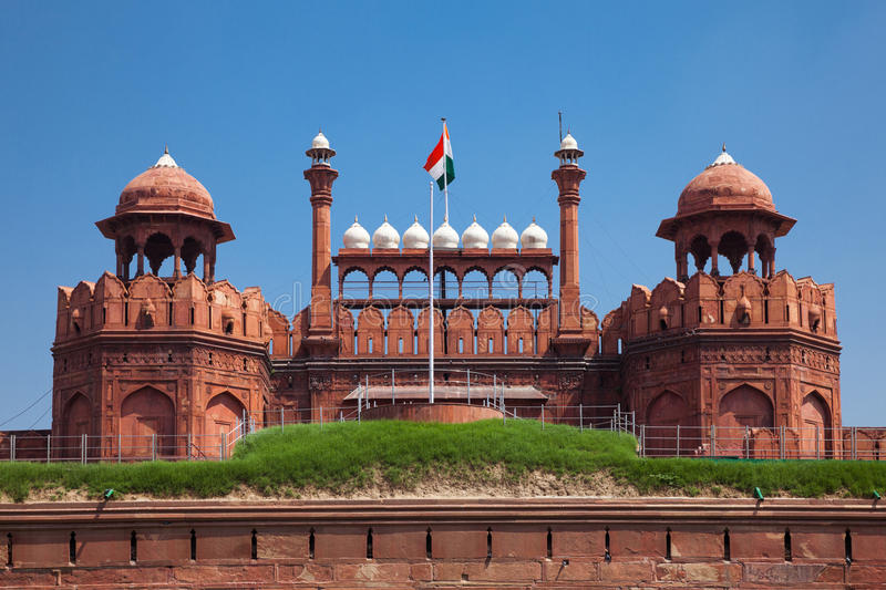 Red Fort in Delhi. royalty free stock photos