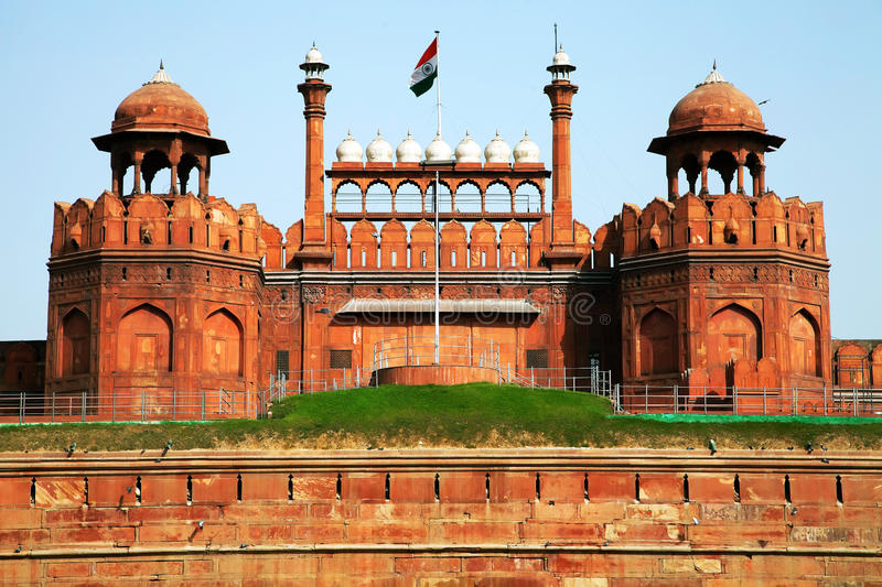 Red Fort of New Delhi stock photography