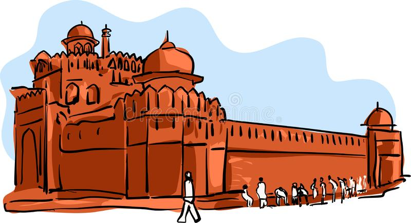 Red Fort Vector illustration for designs vector illustration