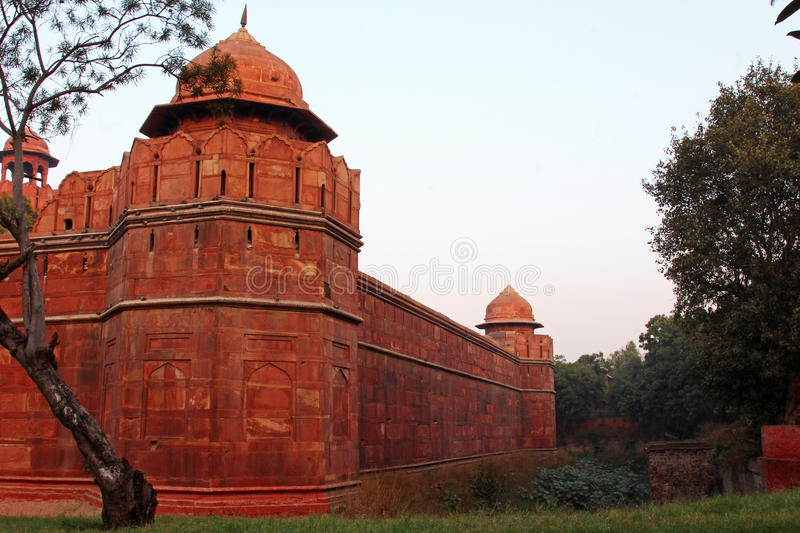 Download Red Fort wall stock photo. Image of empire, exterior - 84120338