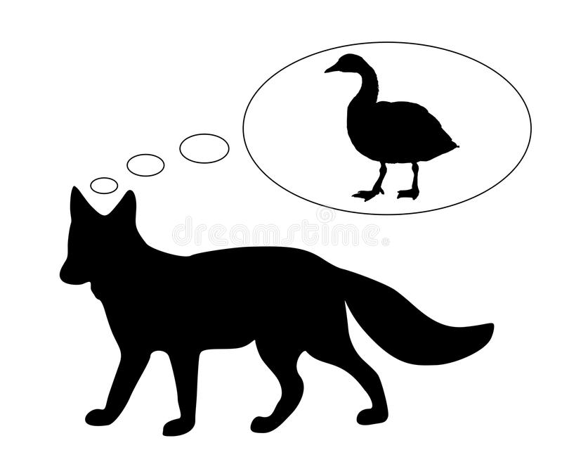 Download Red fox diet stock vector. Illustration of goose, white - 19084536