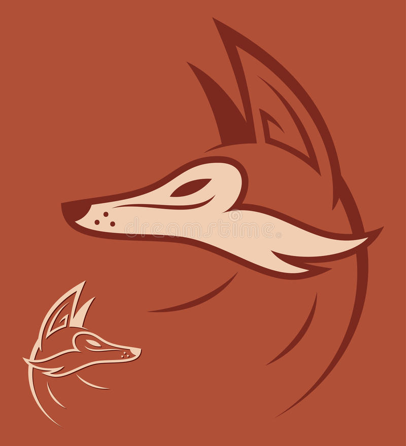 Download Red fox head stock vector. Image of identity, sign, clever - 28390015