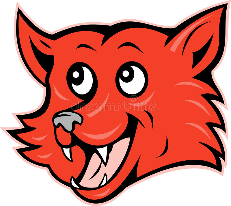 Red fox head grinning smiling royalty free illustration