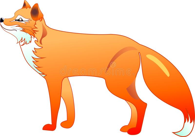 The red fox royalty free illustration