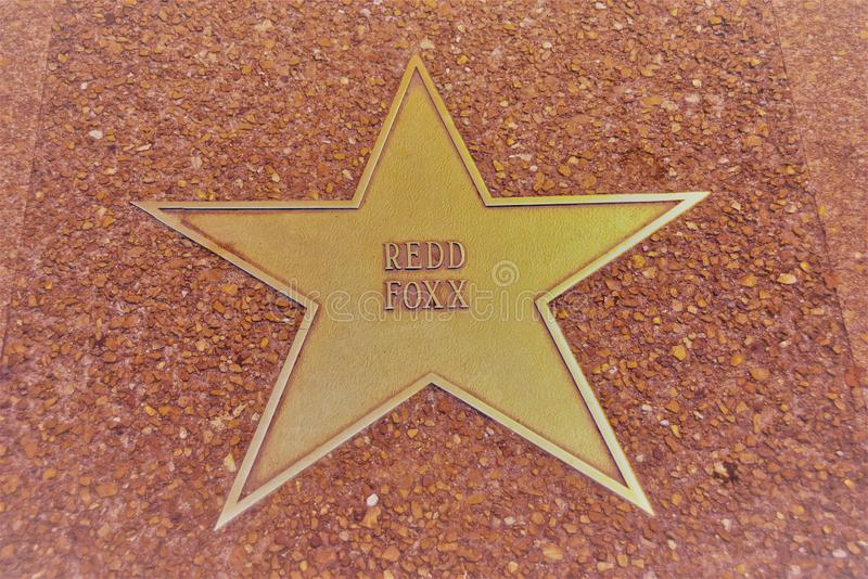 Red Foxx Star, St. Louis Walk of Fame stock image