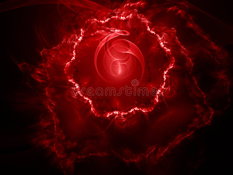 Red fractal background. With abstract theme vector illustration