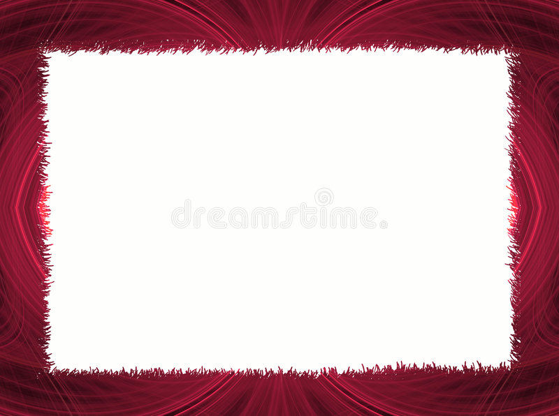 Red Fractal Border with White Copy Space royalty free stock photography