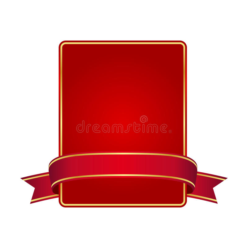 Red frame with banner royalty free illustration