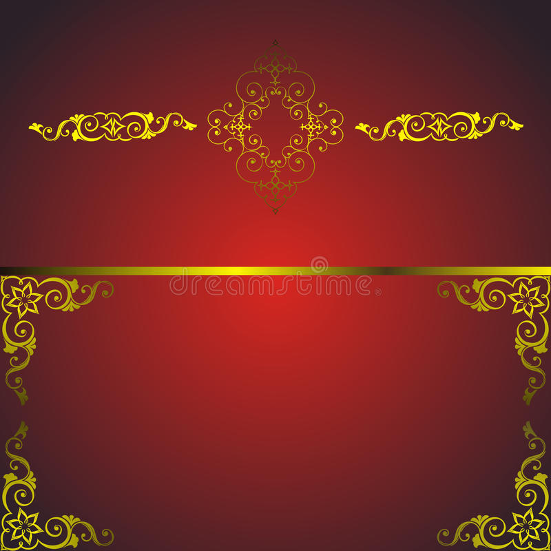 Free Red Frame With Golden Arabesque Stock Photography - 21324312