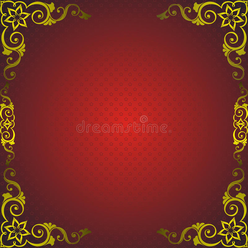 Free Red Frame With Golden Decor Royalty Free Stock Photography - 21324327