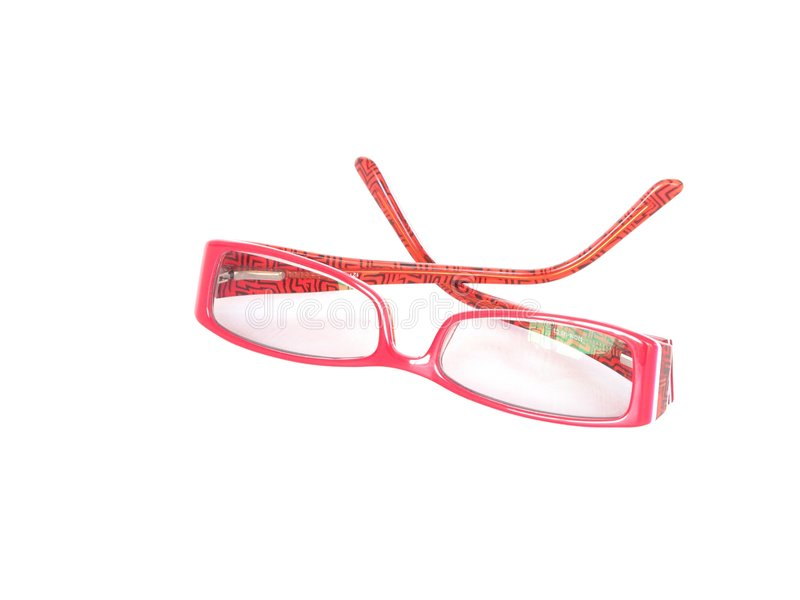 Download Red framed spectacles stock image. Image of modern, help - 8507887