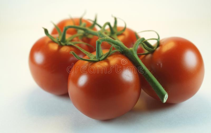 Red fresh tomatoes on the board stock images