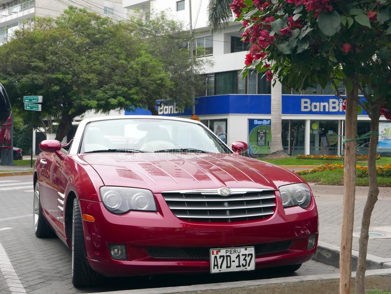 Lovely Download Red Front Side Chrysler Crossfire Convertible In Lima Editorial  Stock Image   Image Of Beautiful