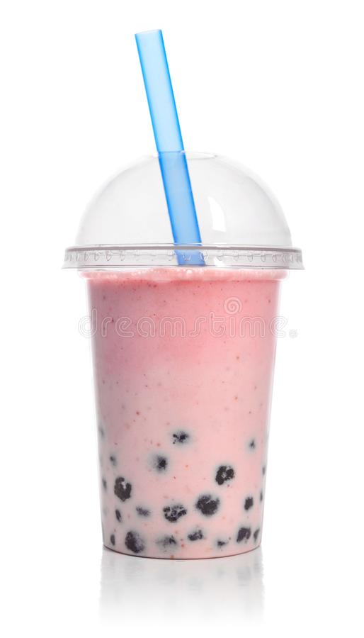 Red fruit Bubble Tea royalty free stock photo