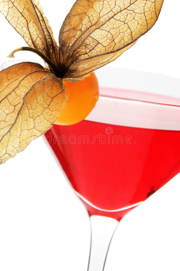 Red Fruit Cocktail royalty free stock images