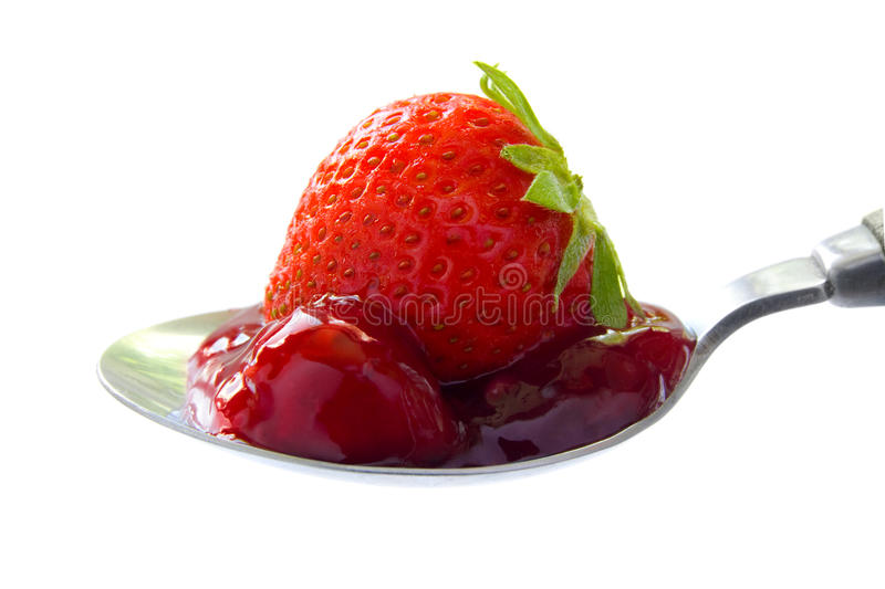 Red fruit jelly royalty free stock photos
