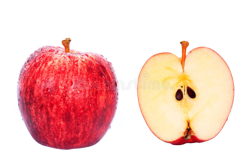 Red Fuji apple isolated royalty free stock images