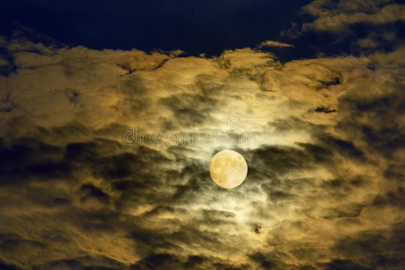 Red full moon royalty free stock photography