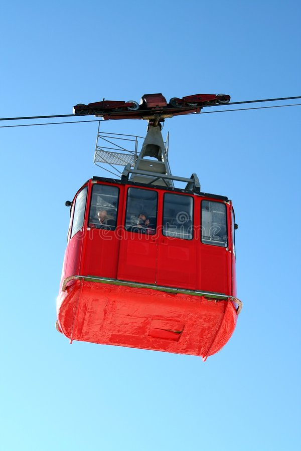 Red funicular stock image