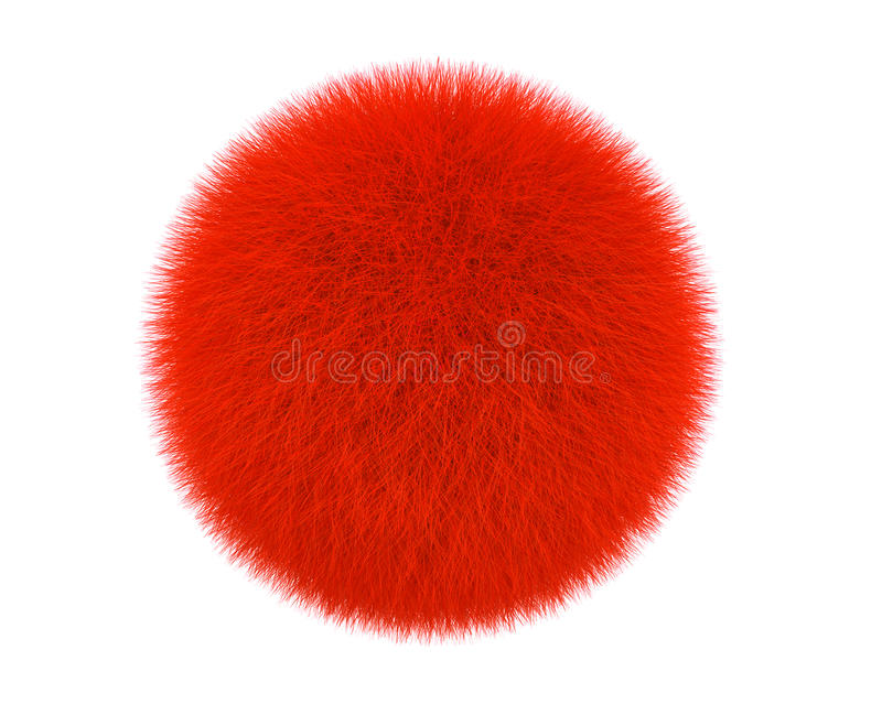 Red Fur Ball Royalty Free Stock Images