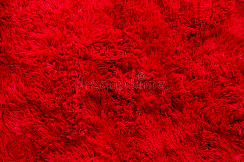 Red Furry Fabric Texture Background Stock Photo Image