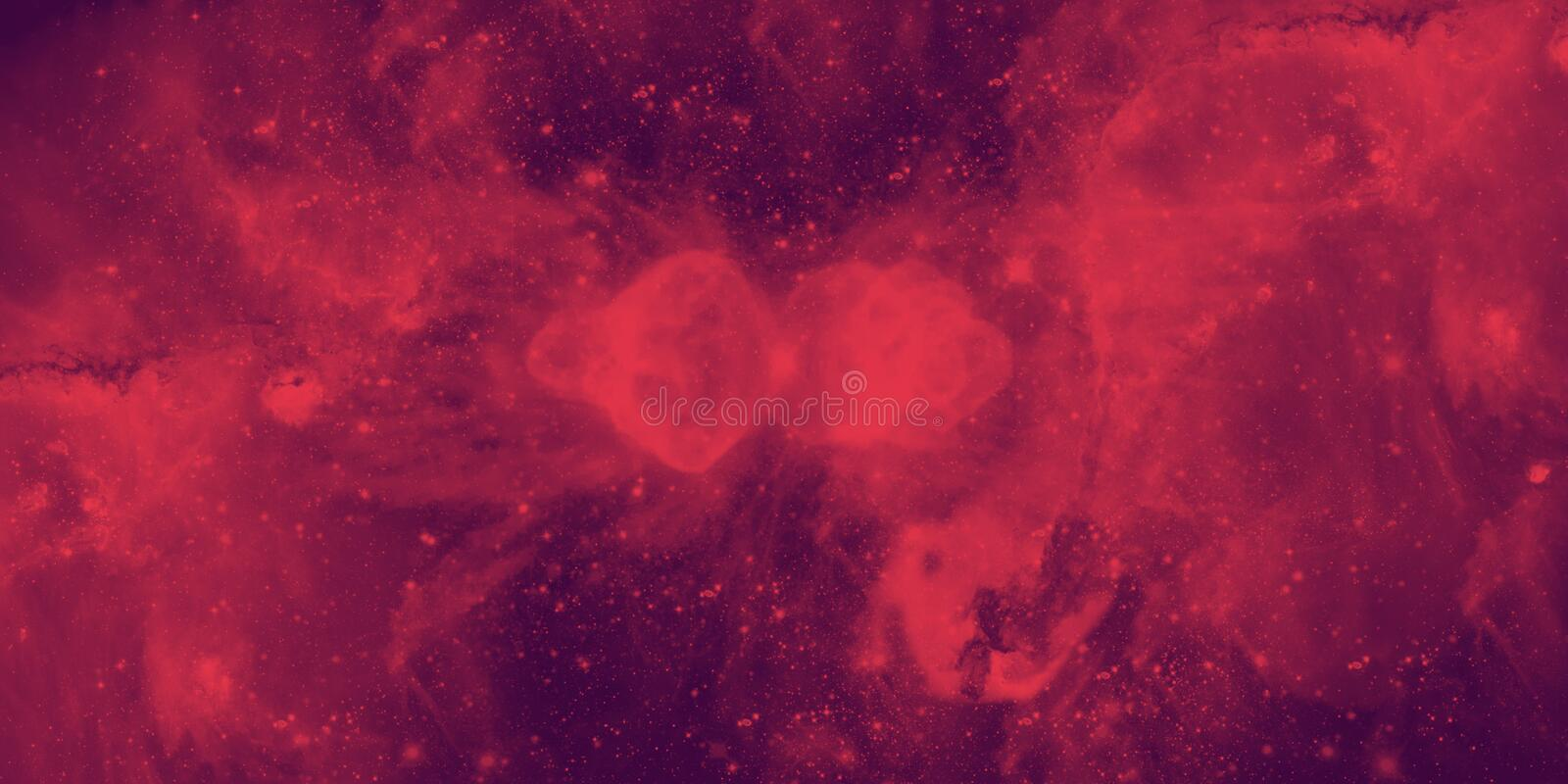 Red Galaxy. A red galaxy in space stock illustration