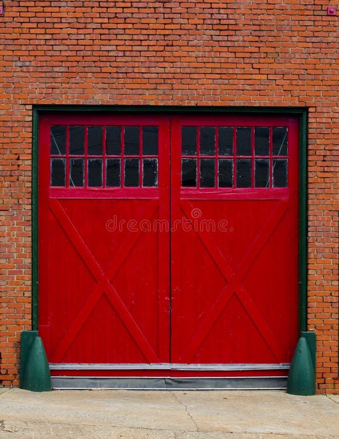 Download Red garage doors stock image. Image of american, city - 18682091