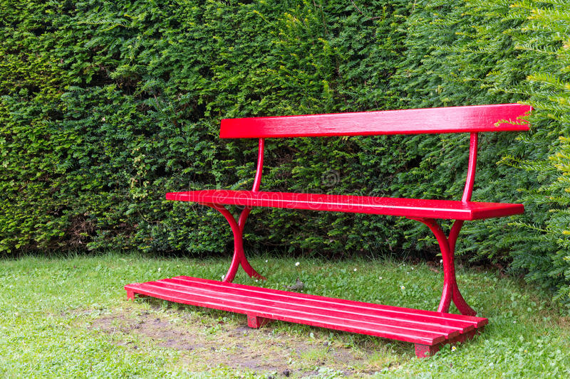 Download Red Garden Bench Stock Image. Image Of Plant, Paint, Garden    47372287