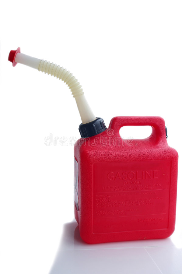 Red gas can stock photos