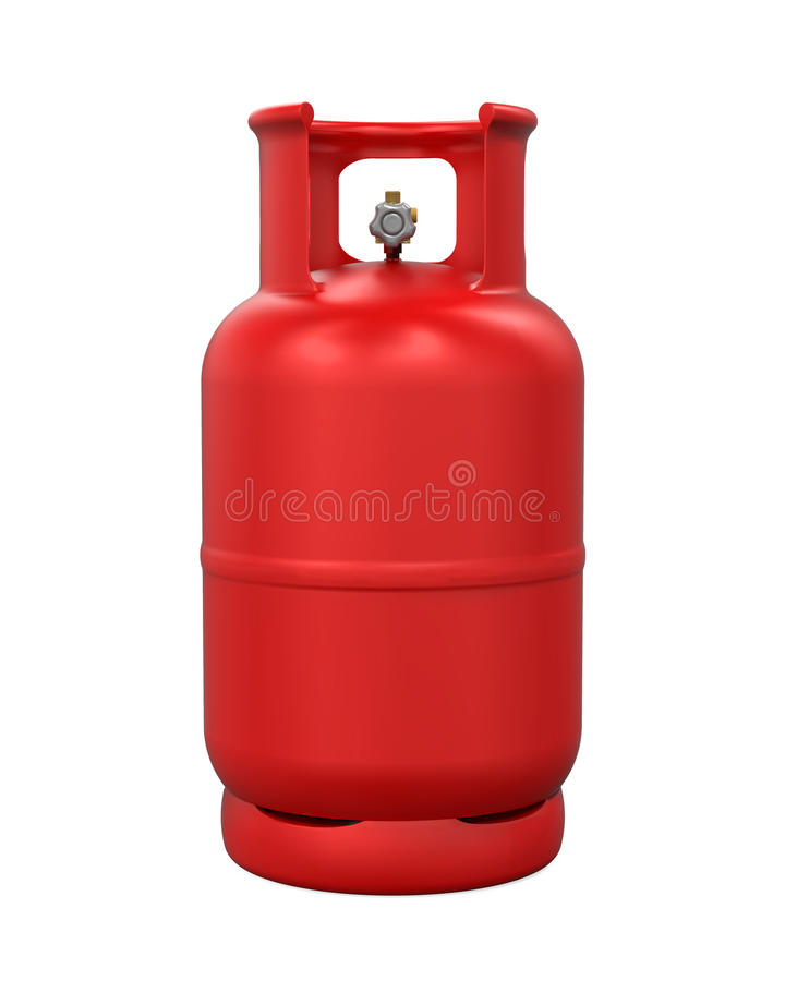 Red Gas Cylinder Isolated stock illustration