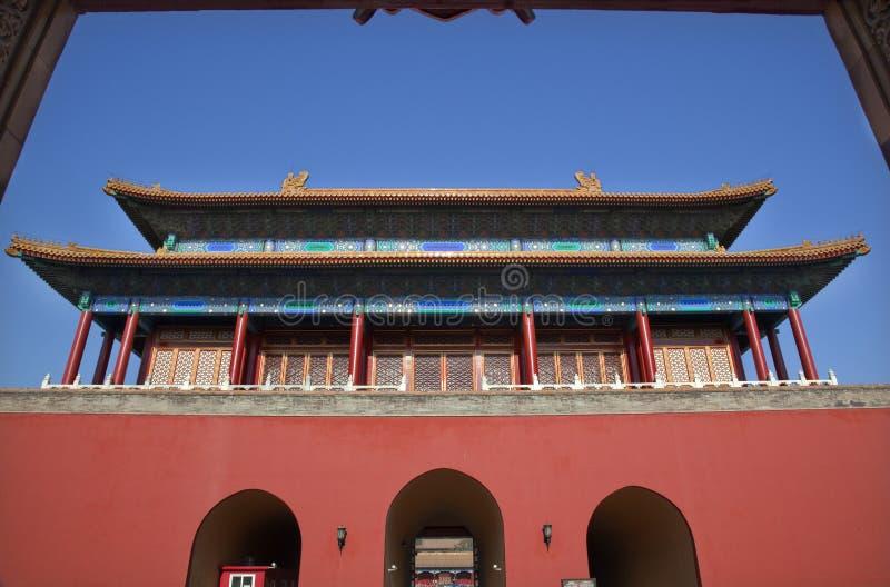 Download Red Gate Doors Forbidden City Beijing Stock Photo - Image: 12416696