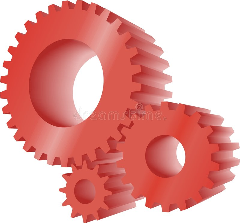 Red Gears Royalty Free Stock Photo