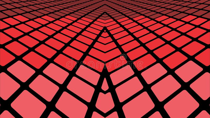 Red geometric abstract background. Infinite red tiles background - Illustration, Red geometric abstract background vector illustration