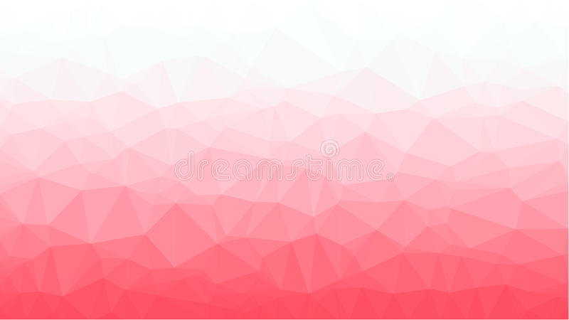 Red Geometric background with triangular polygons. Abstract design. Vector illustration royalty free stock photography