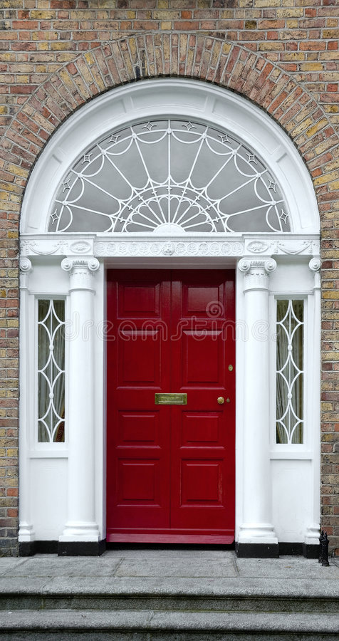 Free Red Georgian Door Royalty Free Stock Photos - 2971008