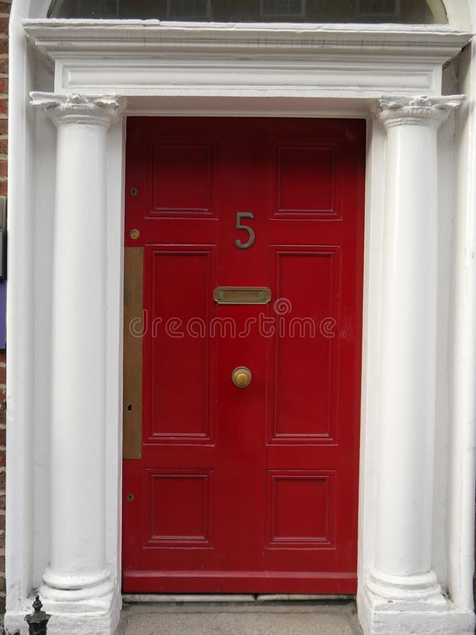 Red Georgian Door royalty free stock images