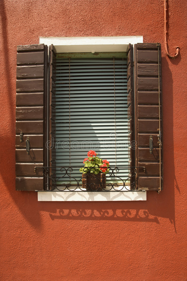 Download Red Geraniums On Window Sill. Stock Photography - Image: 2042012