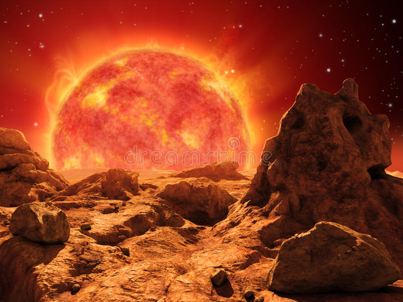 Red giant star vector illustration