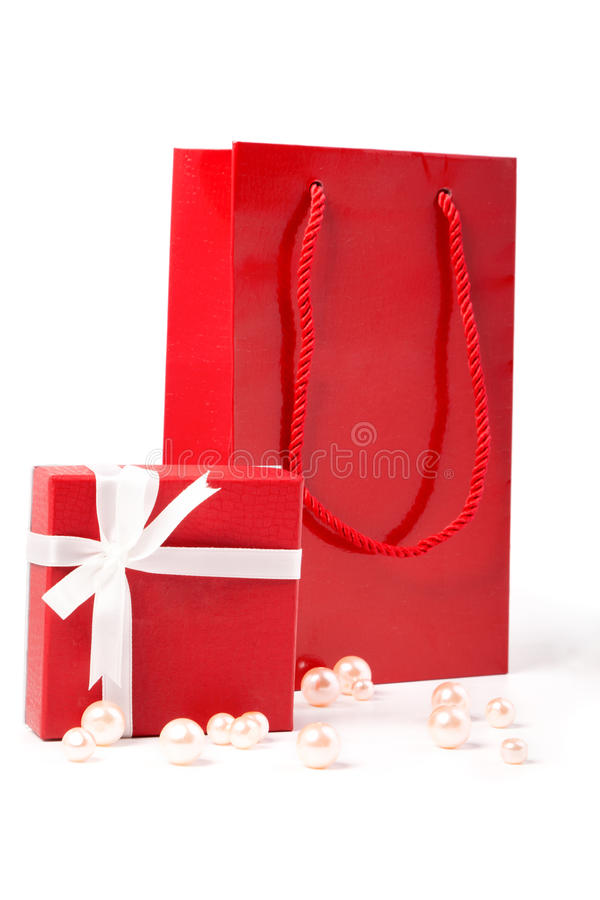 Free Red Gift And Gift Bag Royalty Free Stock Image - 23202486