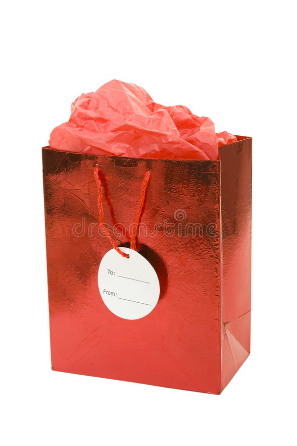 Free Red Gift Bag Stock Photography - 11069872