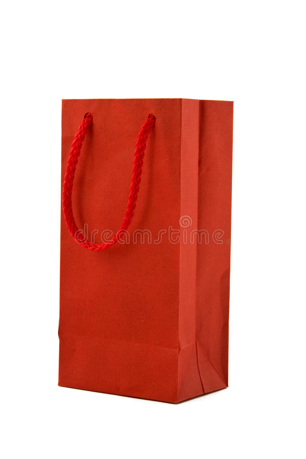 Free Red Gift Bag Royalty Free Stock Photography - 16424307