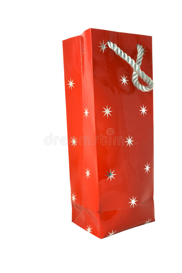 Free Red Gift Bag With Stars Stock Photo - 12295390